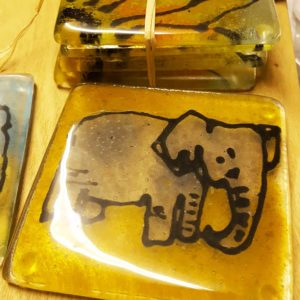 Elephant design coaster