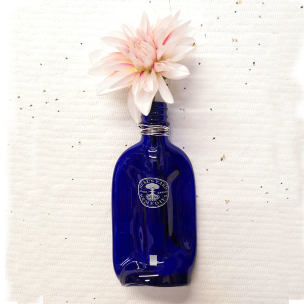 Neal's Yard recycled glass bottle vase 1