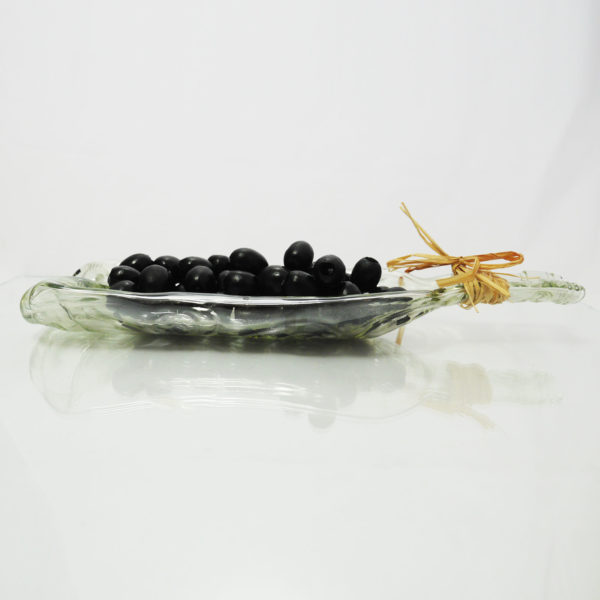 Recuc;ed wine bottle olive dish