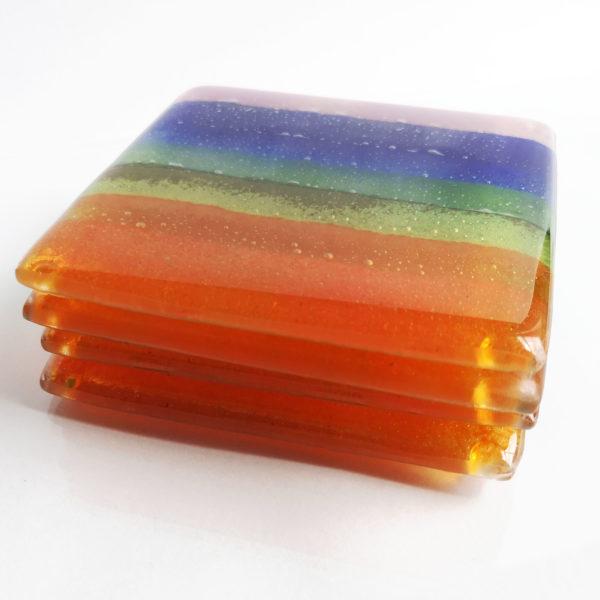 rainbow coasters