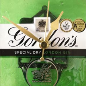 Gordon's Gin Bottle clock close up