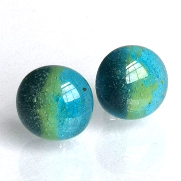 Egyptian Blue stud errings