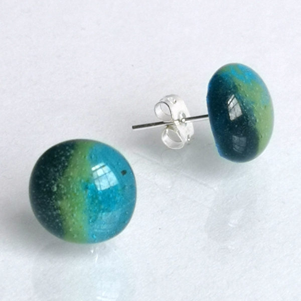 Egyptian Blue stud earrings