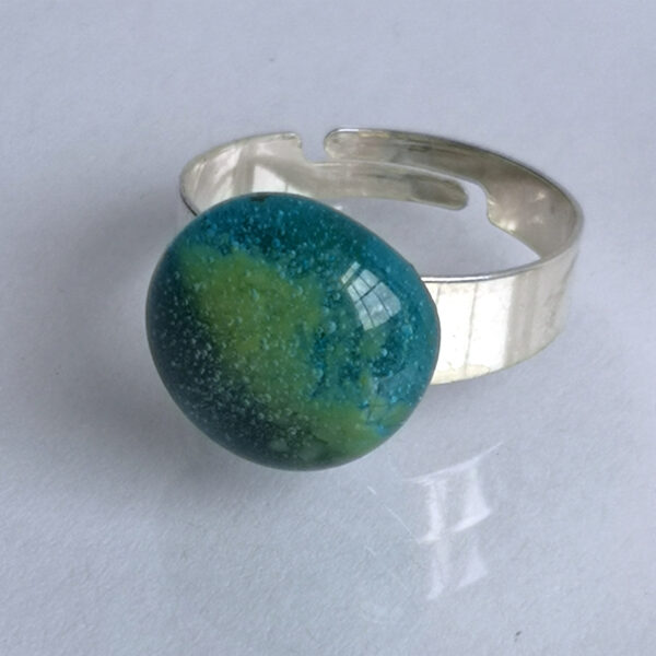 Egyptian blue ring, with a smatter of green 1