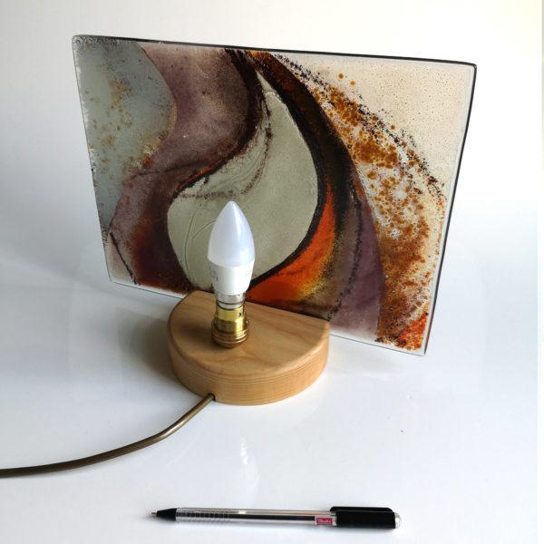 Flame design handmade table lamp 1