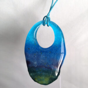 Earth and sky blue pendant