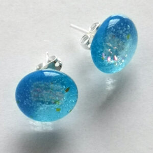 iridescent blue sea earrings post 1